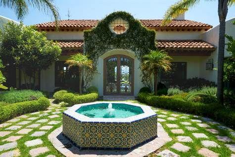 Entry fountain to Mission Revival home in Candelaria, San Miguel de Allende #agavesanmiguel #sanmiguelrealestate