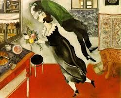 Chagall, The Birthday, 1915, oil on canvas, Museum of Modern Art, New York