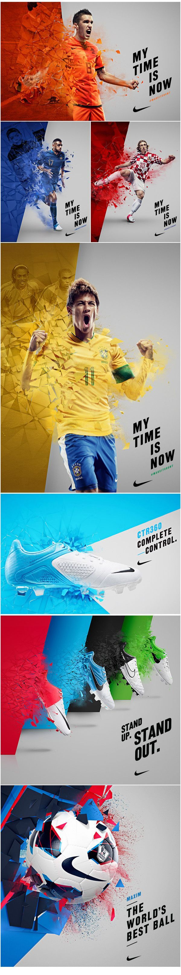 Nike. They know how to get their brand out there. Amazing colors and graphics. No headline needed. Just check mark.