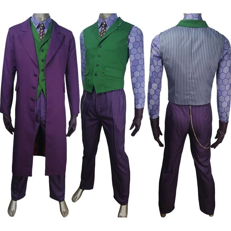 Supervillain clown Batman archenemy Joker cosplay costume full set halloween make-up carnival costume Batman Suicide Squad The Dark Knight