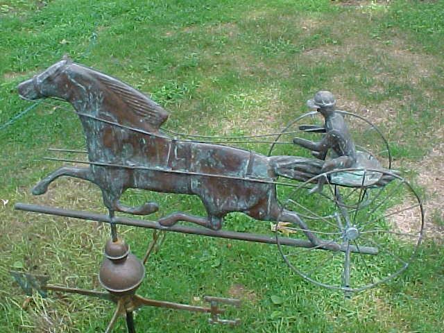 Vintage Weather Vane: Antique Horse And Buggy Weathervane