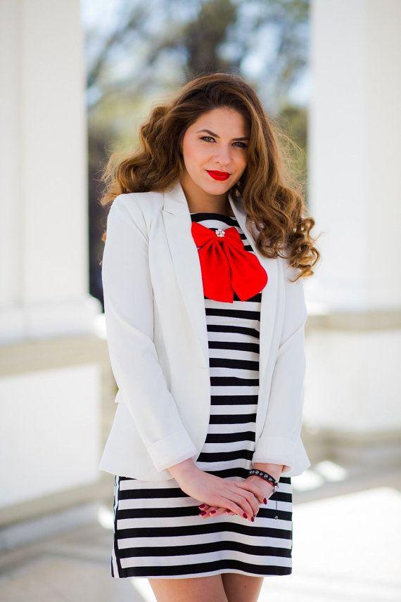 Red Cherry Matte Silk Women's Bow Tie Genuine by BowsByVaniaSzasz