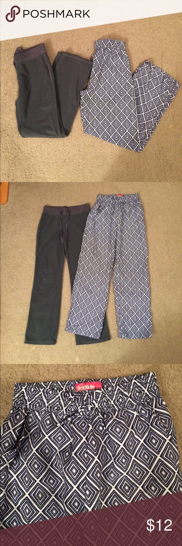 """$9 girls size medium 10–12 pants lot Both in excellent condition! Blue and white chevron pants are light and flowy perfect for summer.✔The price in the beginning of the title of my listings is the bundle price. These prices are valid through the """"make an offer"""" feature after you create a bundle. These bundle orders must be over $15. Ask me about more details if interested.  ❌No trades ❌No holds Old Navy Bottoms Casual"""