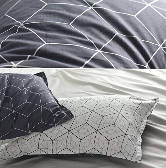 Amazon Com Eikei Home Minimal Style Geometric Shapes Duvet Quilt Cover Modern Scandinavian Design Modern Scandinavian Design Geometric Decor Reversible Blocks