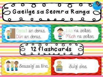 Gaeilge sa Seomra Ranga - flashcards