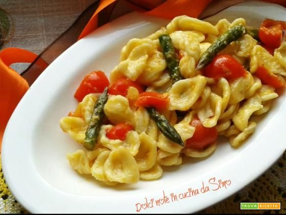 Orecchiette con asparagi e pomodorini  #ricette #food #recipes