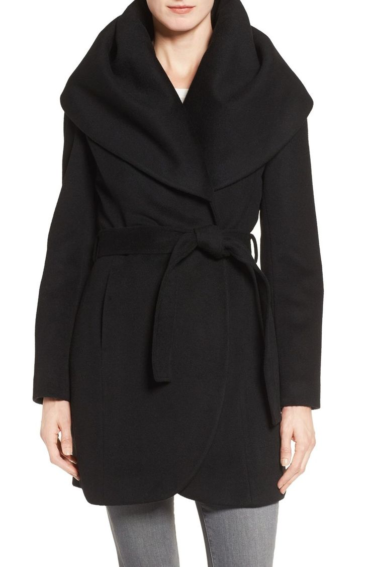 Adding this cozy wrap coat to our fall wardrobe for easygoing elegance.