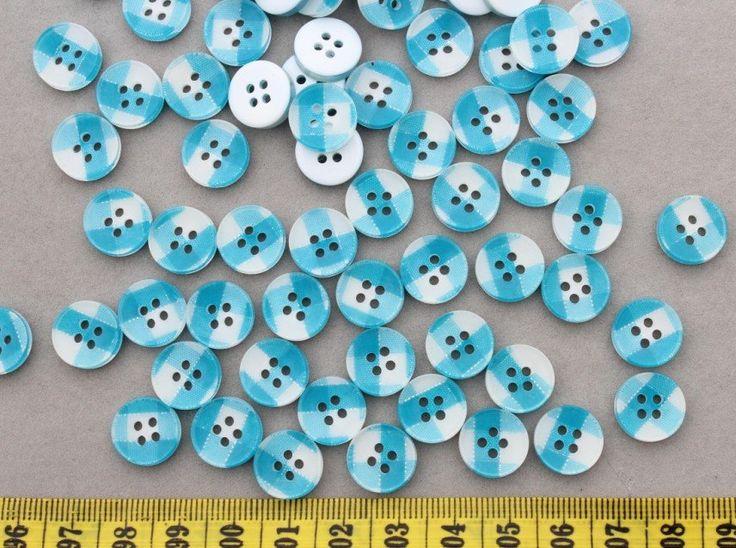 800 шт. смолаы синие полосы печать конфеты кнопки 4 отверстия 12 мм вы выбираете цвет
