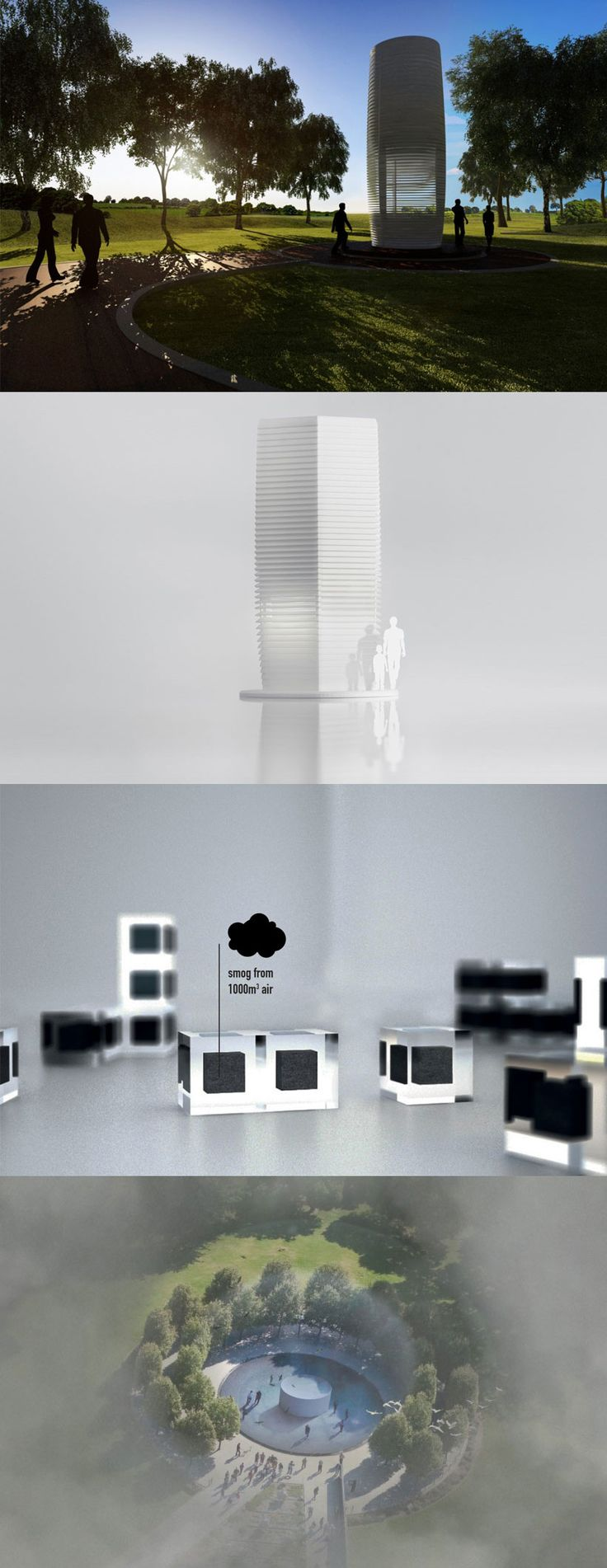 "Il più grande purificatore d'aria ""green"" al mondo: Smog Free Tower  Let's build the world's largest air-purifier!"