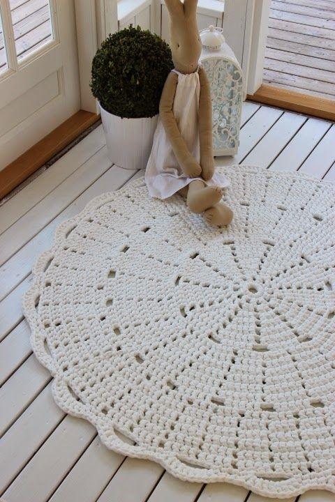 Bom dia....eu sempre usei na minha casa tapetes de barbante cru, sem colorido, não acho prático nem bonito estes com um mundo de flores, qu...