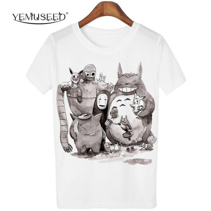 New Cute Totoro T shirt Women Cartoon 3D Harajuku Casual Tops Tees Blusa Plus Size O Neck T-shirt camisetas G – free shipping worldwide