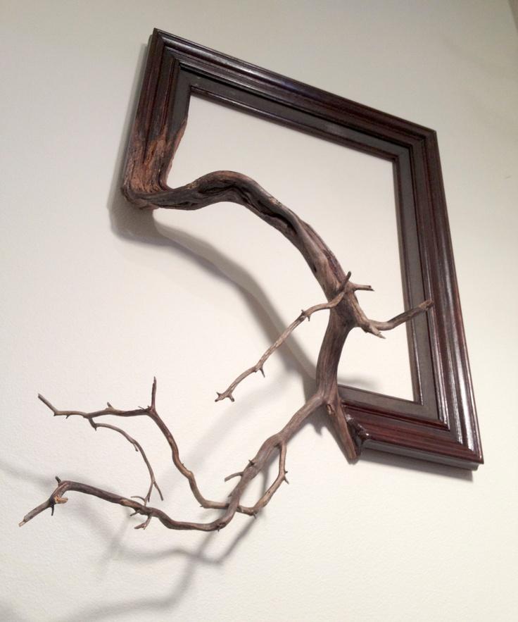 Wood frame with grafted manzanita branch - Oscar. $215.00, via Etsy.