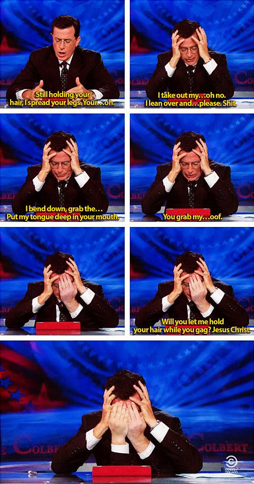 Colbert reading Anthony Weiner's messages…