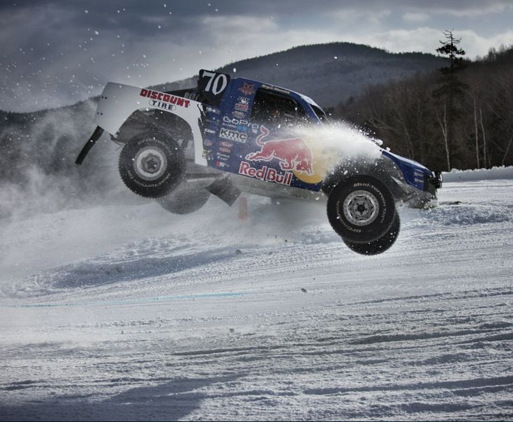 Move Over Skiers! #RedBull Frozen Rush Is Here and it is EPIC! Watch 900hp Pro4 Trucks 'Let Rip' On The Slopes. Hit the pic for the a huge adrenaline rush... #viralvideo