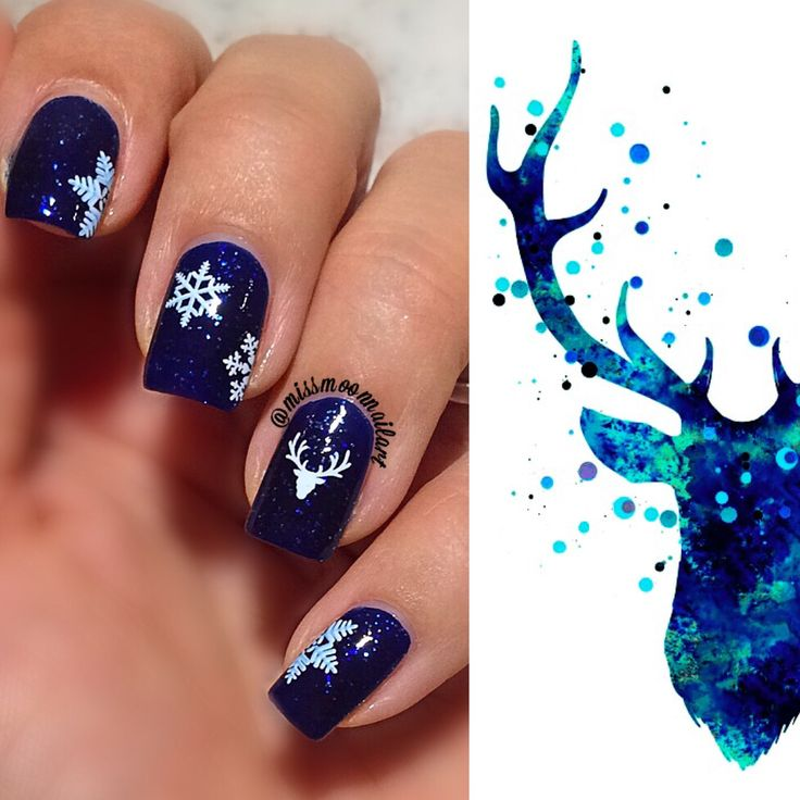 #winternails #snowflakes #snowing #nailart #nailartdesign #addictedtoblue #starrystarrynight #essie #nailpolish #waterdecals #shinynails #glitternails #allaboutnailsofficial #winterisstillhere #winterqueen #january2017 #mybirthdaymonth #winterismyseason #nails2inspire