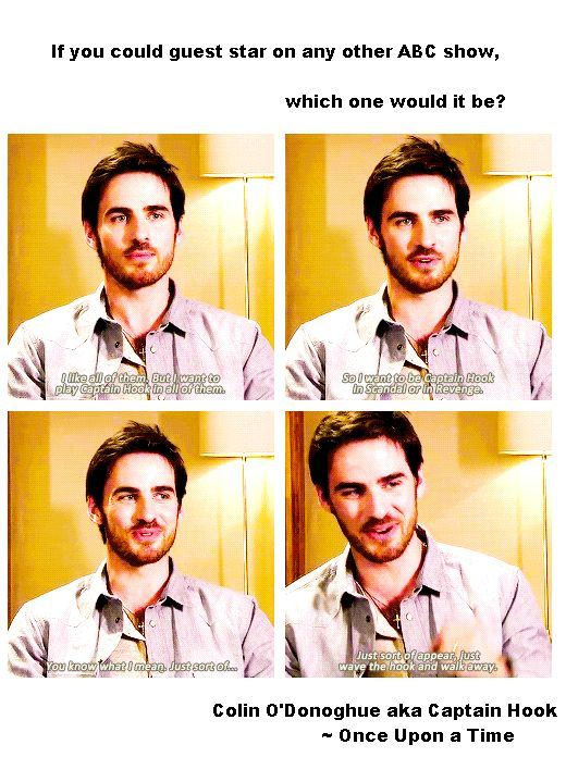If Captain Hook ever showed up in any of those shows for just one episode, I would totally watch it.