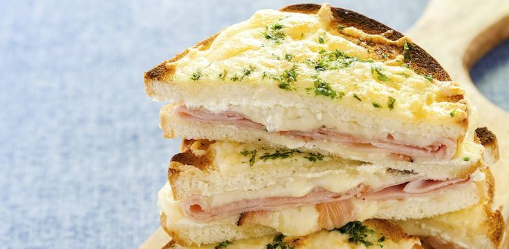 The Croque-Monsieur is a French riff on a grilled cheese; here made even easier by swapping in cool crème fraîche for béchamel sauce