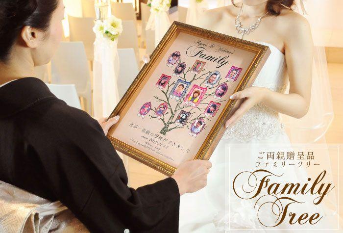 ファミリーツリー(家系図)/結婚式両親へのプレゼント  http://www.farbeco.jp/parents.html