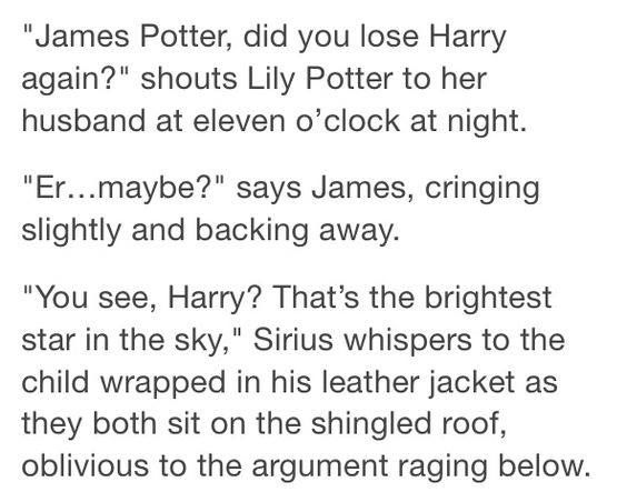 Someone give me an AU where Sirius regularly 'kidnapped' Harry to spend time with him like this... then became his father when James & Lily were killed. I NEED FLUFF. SOMEONE GIVE ME FLUFF!