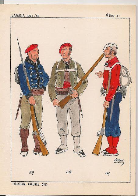 27 Voluntario Valenciano, 28 1er. Batallón de Valencia y 29 Guías de Valencia