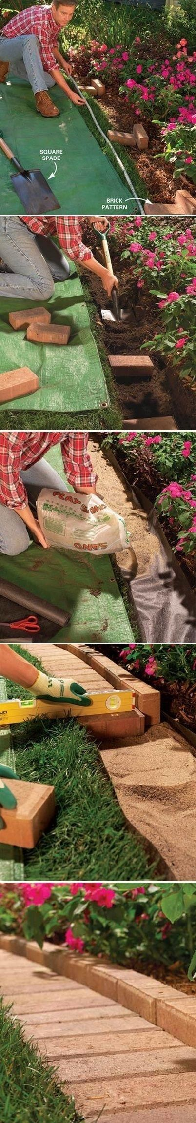Excellent instructions... With pics. The Best Garden Bed Edging Tips