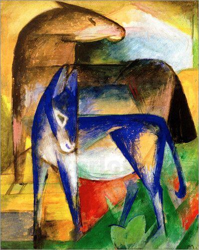 Franz-Marc zwei blaue Esel