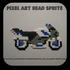 Magnets / porte clés moto - bead sprite - pixel art