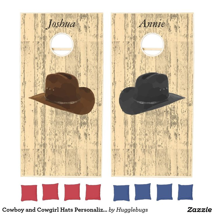 Cowboy and Cowgirl Hats Personalized