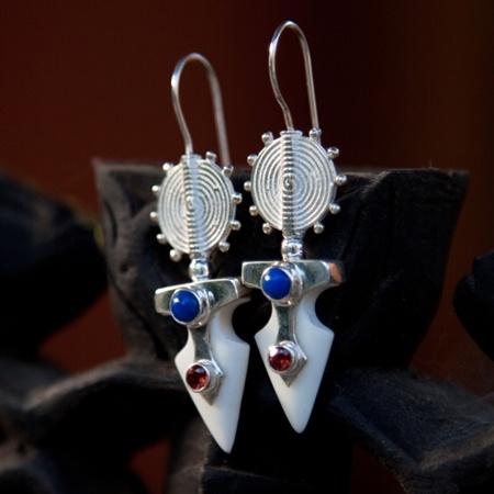 Arrowhead Trophy bone earrings  by Pantheia   $140