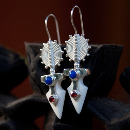 Arrowhead Trophy bone earrings  by Pantheia   $140