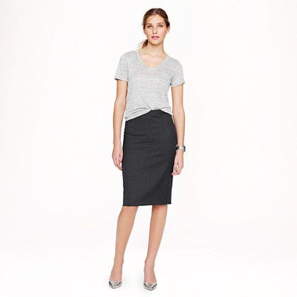 A classic pencil skirt - perfect for the office or pair it with a T-shirt & flats for a more casual style.