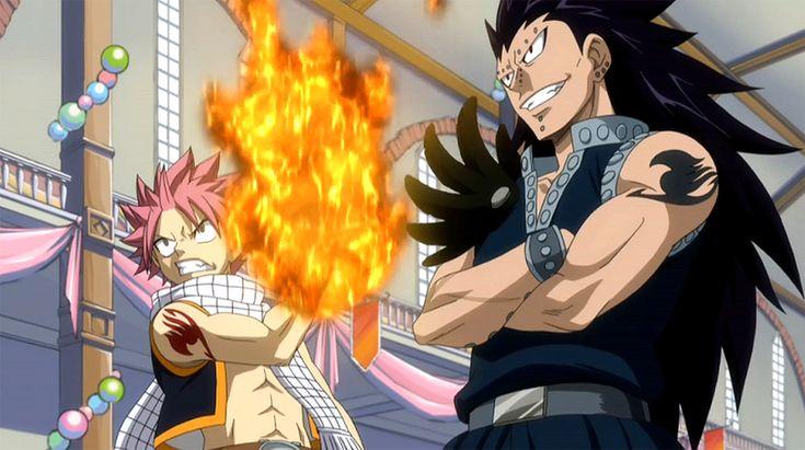 Fairy Tail Fantasy Anime Natsu Dragneel and Gajeel Redfox