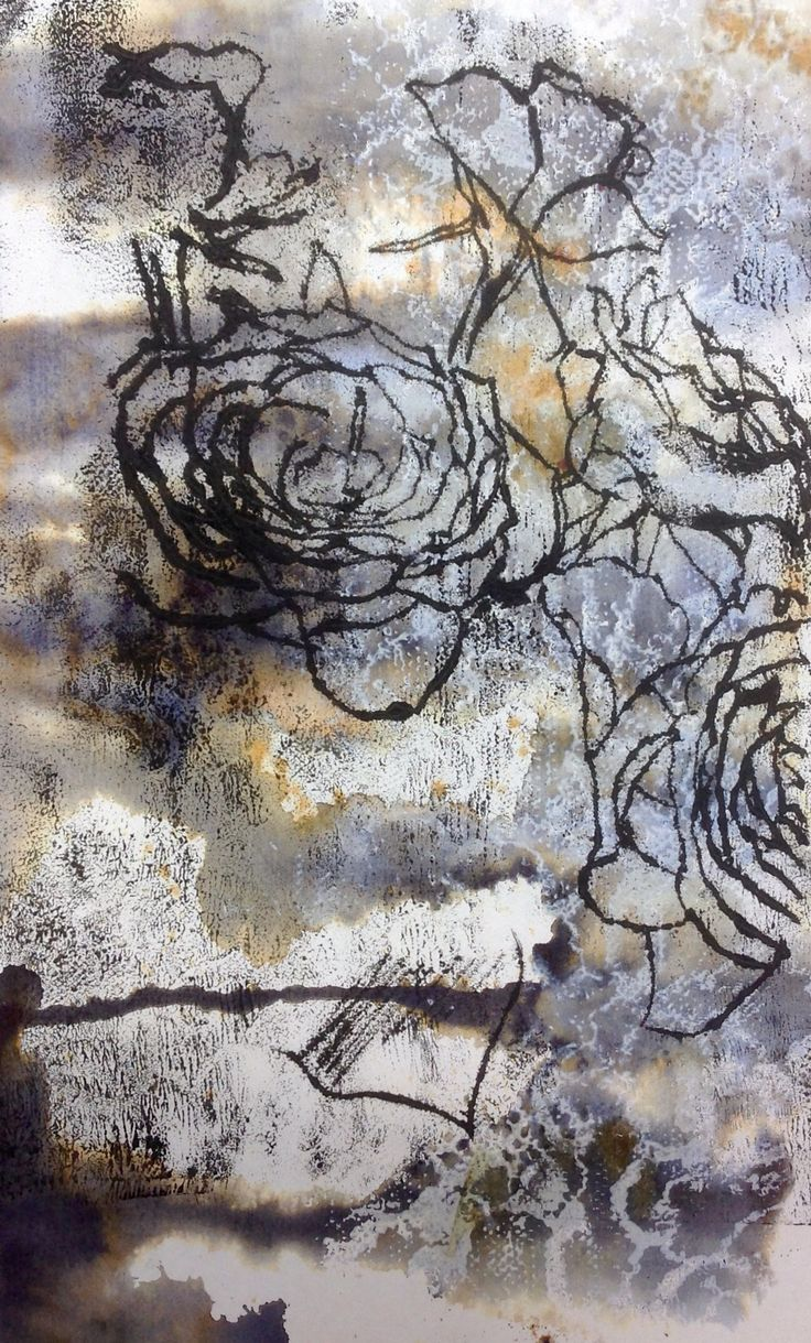 Mono-print on developed surface, Eleanor