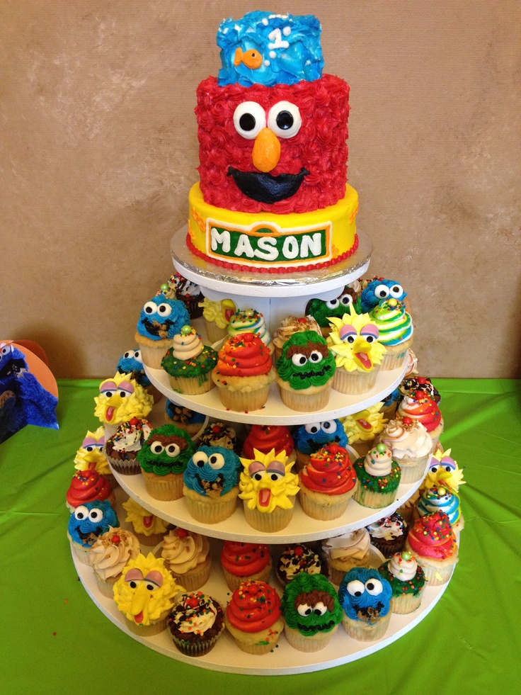 Sesame Street Cake And Cupcakes