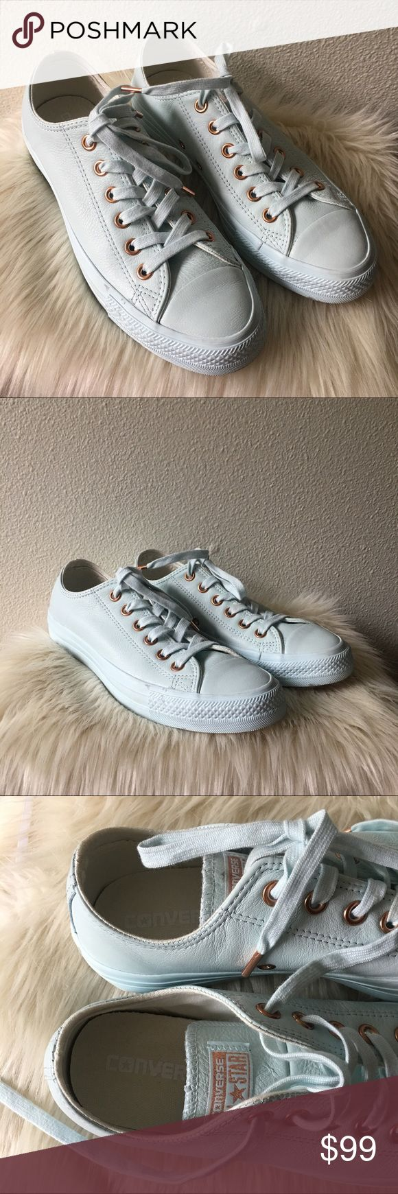 Powder Blue Converse Exclusive Bought it from UK and this is limited edition! Still great as brand new but no box included :) true to size for womens! Will fit 7.5-8 womens! Converse Shoes Sneakers