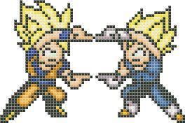 Dragon Ball Z Fusion cross stitch pattern PDF