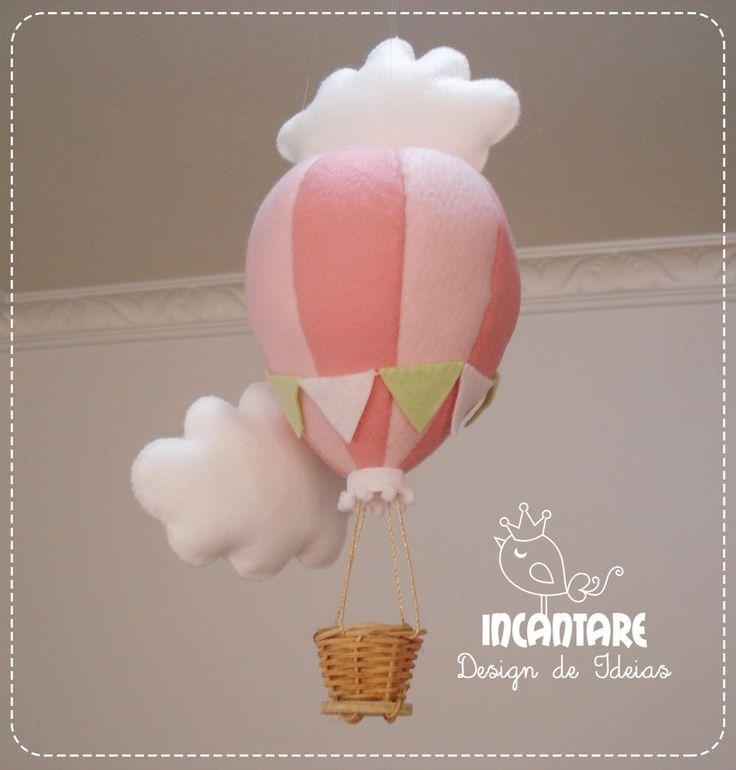 Pingente Balão com Nuvens