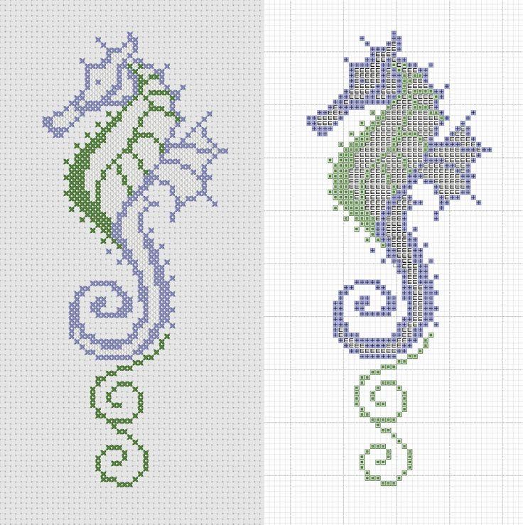 Cross stitch Seahorse