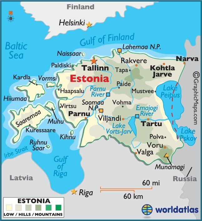 Mapa De Estonia Slovensko