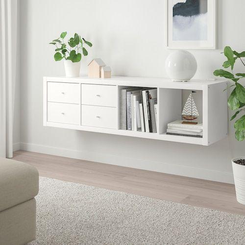 Kallax Shelf Unit With 4 Inserts White 30 3 8x57 7 8 Ikea In 2020 Ikea Kallax Shelf Kallax Shelving Unit Kallax Shelf Unit