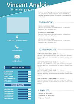 modele CV à télécharger