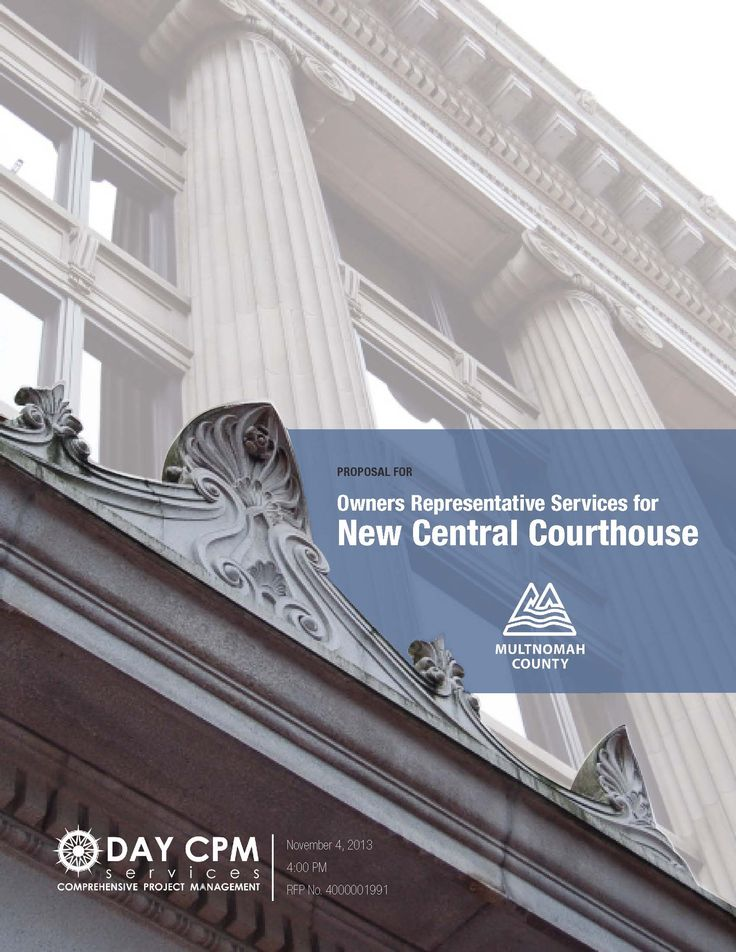 Courthouse proposal cover for DAY CPM