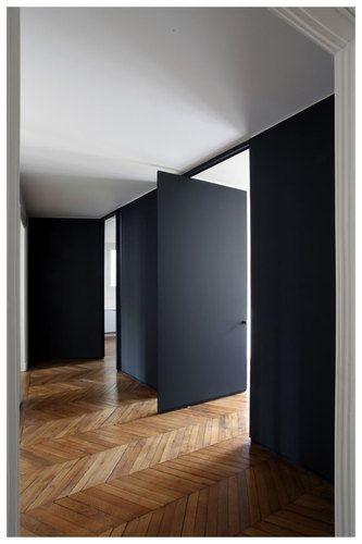 black pivot doors |
