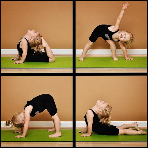 Yay for kids doing yoga! Cute :)
