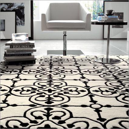 Tappeto Lace. Dimensioni: 170x 240 cm / 200x300 cm. Materiali: lana. Colori: nero/bianco. Prezzo listino: 1044.00 euro. http://www.calligaris.it/