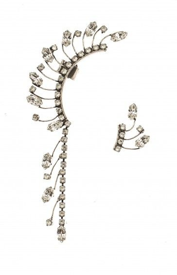 Handmade bridal antique metal plated earrings with Swarovski strasses, by Art Wear Dimitriadis