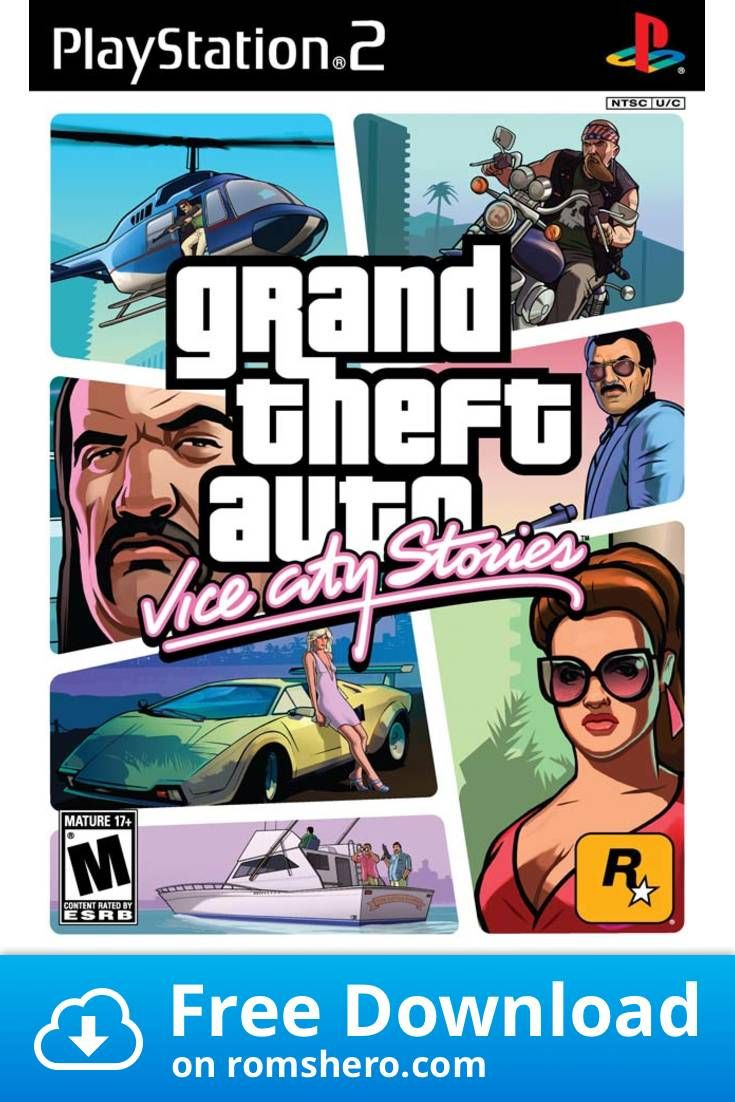 Download Grand Theft Auto Vice City Stories Playstation 2 Ps2 Isos Rom Grand Theft Auto Games Grand Theft Auto Download Games