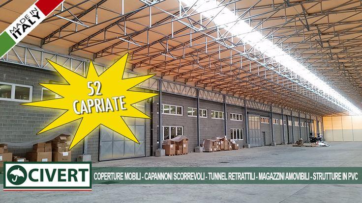 Le 52 #capriate della #coperturaMobile Brumar #logistica #magazzino #record #tunnel #pvc #capannone #civert #madeinitaly