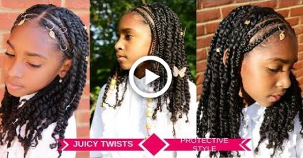 KIDS HAIRSTYLES FOR GIRLS   PROTECTIVE TWISTS & BRAIDS TUTORIAL