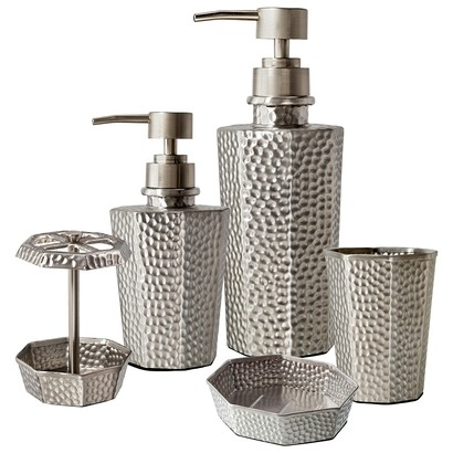 target home hammered metal bath collection
